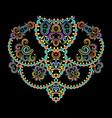 neckline ethnic design colored pattern vector image vector image