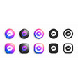 new facebook messenger modern 3d and flat icons vector image