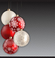 new year and christmas ball on transparent vector image vector image