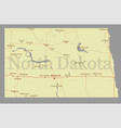 north dacota state map with community assistance vector image vector image