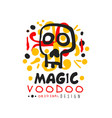original voodoo african and american magic logo or vector image vector image