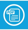 PDF file sign icon vector image vector image