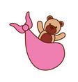 pink bear toy in blanket baby shower celebration