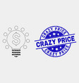 pixelated dollar light bulb icon and vector image vector image