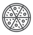 pizza line icon italian and food fast food sign vector image vector image