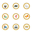 police icons set cartoon style vector image vector image