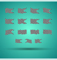 racing background set collection of 15 checkered vector image vector image