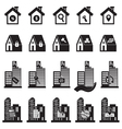 Real Estate Building and House Symbol vector image vector image