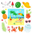 relaxing on beach summer business sea vector image vector image