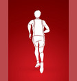 running action marathon runner start running vector image vector image