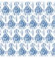 seamless ikat indigo pattern vector image vector image