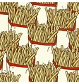 Seamless Pattern with French Fries in a Paper vector image vector image