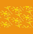 seamless pattern with yellow flowers vector image