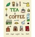 set coffee and tea vector image