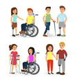 set disabled people and vector image vector image