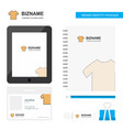 shirt business logo tab app diary pvc employee vector image vector image