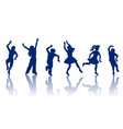 Silhouettes of little boys and girls vector image