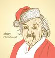 Sketch Albert Einstein in vintage style vector image