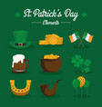 stpatricks day signs and icons collection vector image