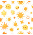sun seamless pattern cartoon vector image vector image