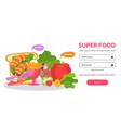 super food login background vector image vector image
