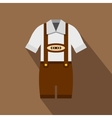 Traditional Bavarian men suit icon flat style vector image vector image