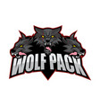wolfpack logo vector image vector image