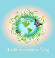 world environment day promotion poster vector image
