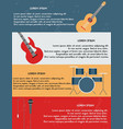 template of poster with musical instruments vector image