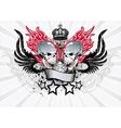 Winged Skull Emblem vector image