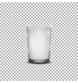realistic glass cup vector image