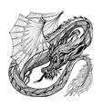 Sketch Dragon vector image