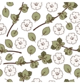 Seamless Pattern with Apple Flowers vector image