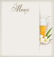 menu with juice vector image
