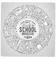 Set of School cartoon doodle objects symbols and vector image
