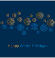 abstract snowflakes header in line style vector image vector image