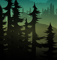 Background green realistic nature of the forest vector image