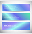 banners or headers with holographic gradient vector image vector image