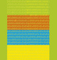 binary codes colorful background vector image