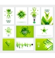 Business Abstract Green Template vector image