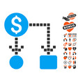 cashflow icon with dating bonus vector image