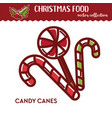 christmas food festive treat or dessert cane vector image