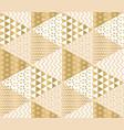 christmas patchwork decorative motif vector image vector image