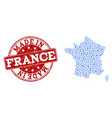collage map of france with mechanics links and vector image