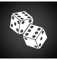 Craps dice icon vector image