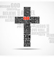 cross religious words christian symbol vector image vector image
