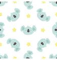 cute seamless pattern with koalas for prints vector image vector image