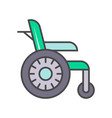 disability wheelchair linear icon vector image vector image