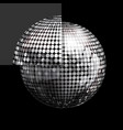 disco ball and panel on black background vector image vector image