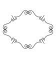 elegant victorian with diamond shape frame vector image
